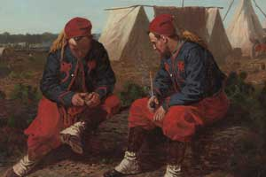 painting of two zouaves