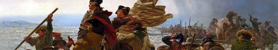 Revolutionary War Banner–washington crossing the delaware
