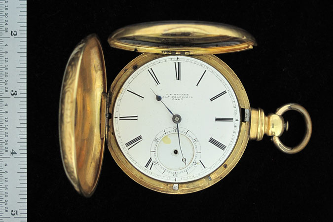 photograph of Jeremiah Bowen Moore's pocket watch