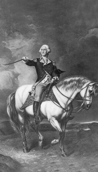 image of George Washington on a horse